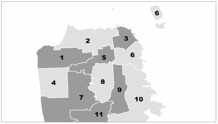 SF supervisorial districts map